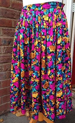 Gold and Pink floral skirt