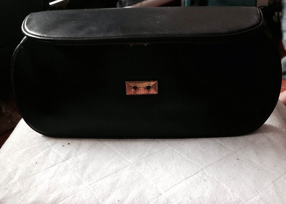 Black clutch bag.