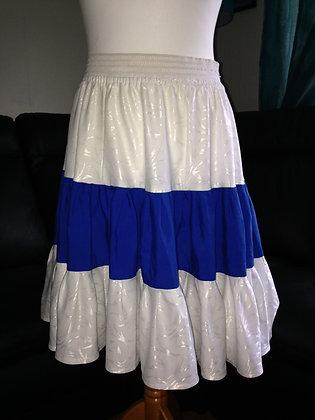 Blue and White skirt