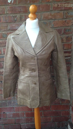 Brown/grey leather jacket REDUCED £35.00