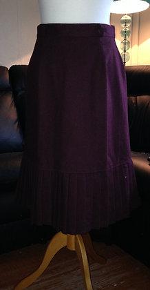 Burgandy skirt