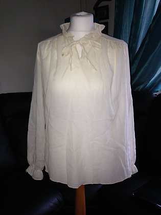 Frill neck blouse