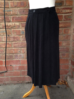 Black wrap round skirt