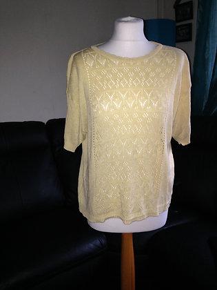Yellow short sleeved jumper