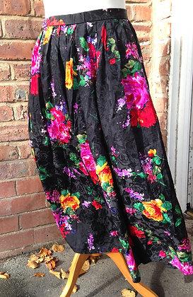 Silk floral skirt