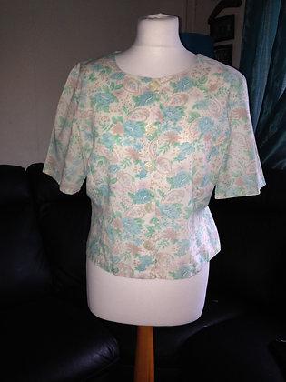 Round neck blouse