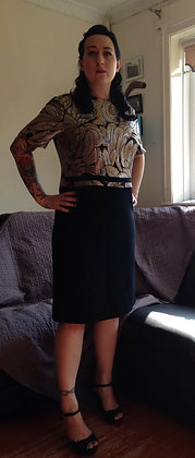 Gold and black dress REDUCED £40.00
