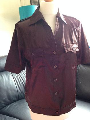 1970's brown safari shirt