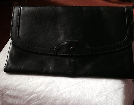 Black clutch with hand strap