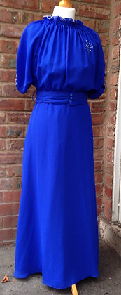 Blue 1970's maxi dress
