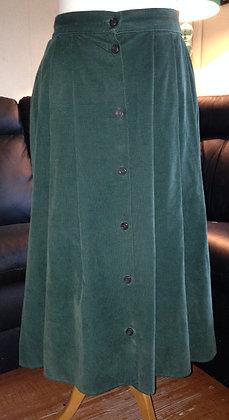 Green codroy skirt