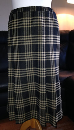 Black and Gold check skirt