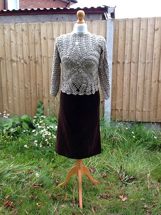 1960'S Crochet top and Brown skirt FROM £60.00
