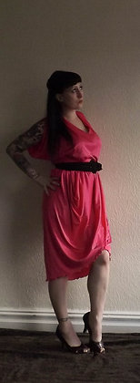 Hot pink 1980's disco dress