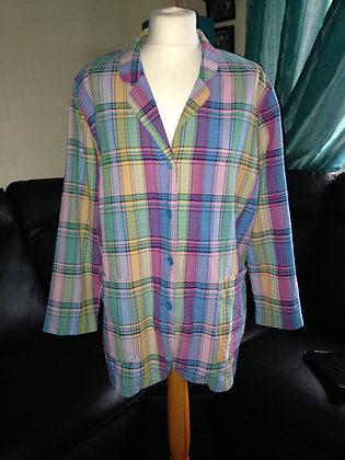 Multi check jacket