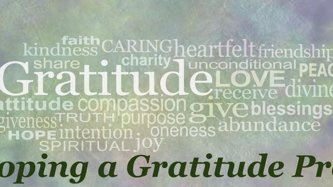 Developing a Gratitude Practice