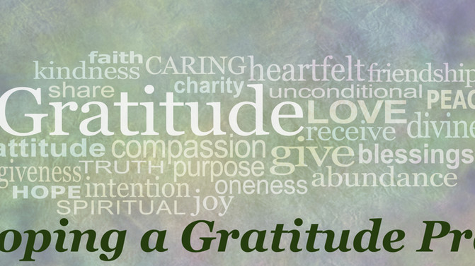 Developing a Gratitude Practice