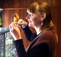 Animal communication talking to bird