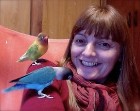 Animal communicator Phee Nugent lovebirds