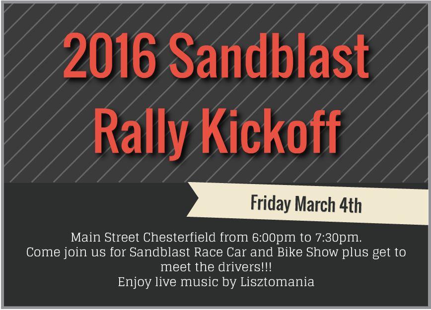 Sandblast Rally kickoff