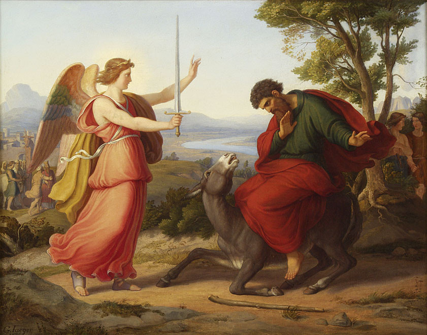Bileam und der Engel by Gustav Jaeger