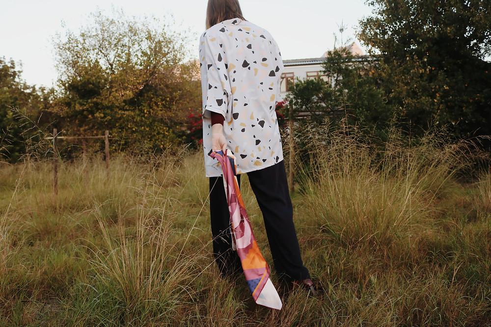 Photoshoot silk kimono