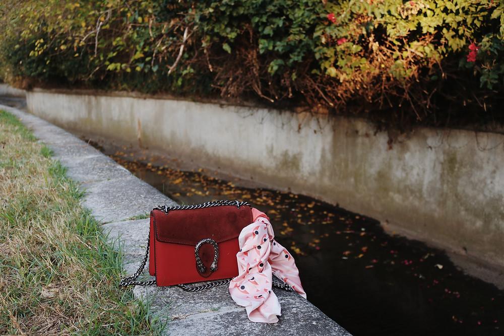 Photoshoot Gucci bag