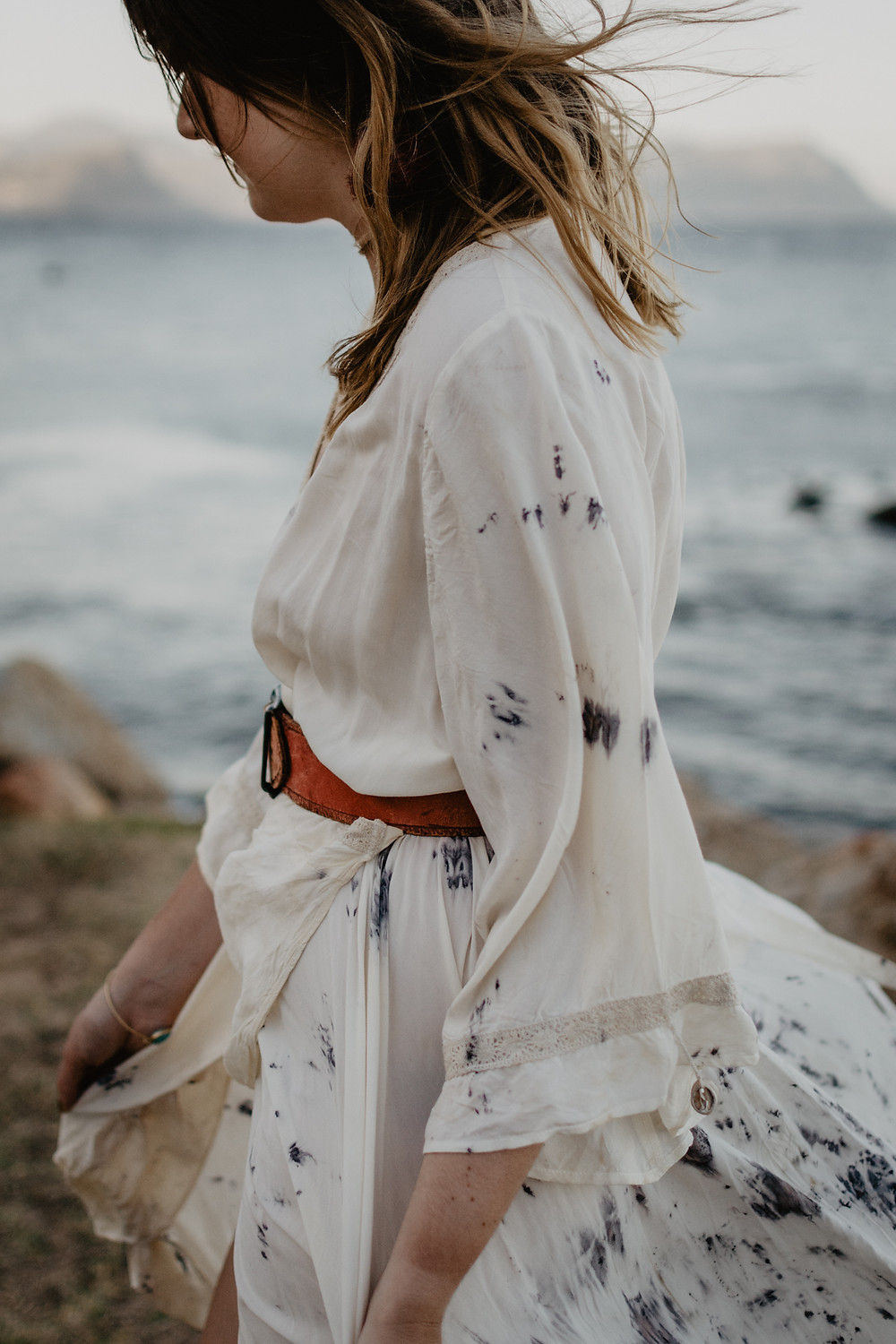 Close up of bohemian dress