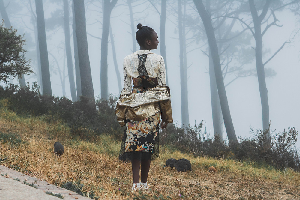 Vintage lace blouse fashion photography