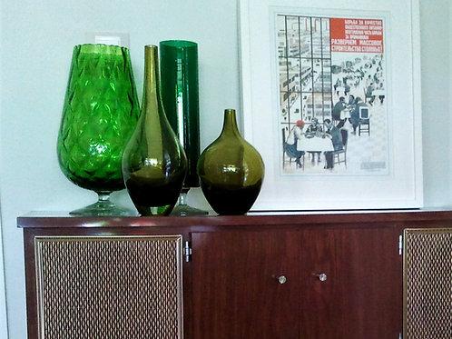 Copa verde de cristal