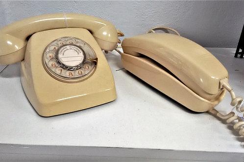 Teléfono góndola marfil
