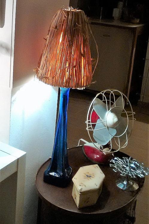 Lámpara cristal azul