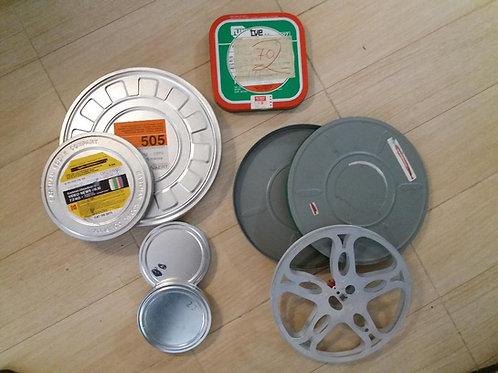 Lote de latas de películas 16mm