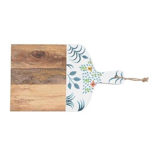 Wooden Cutting Board - Leaves & Butterflies