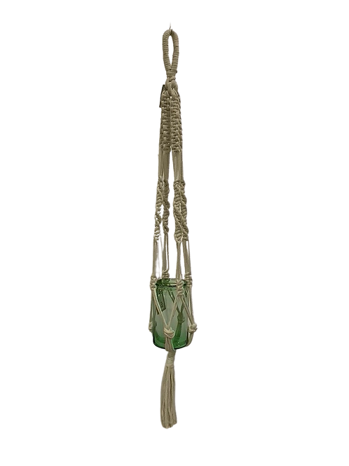 Macrame Plant Hanger - Cream - 120 cm