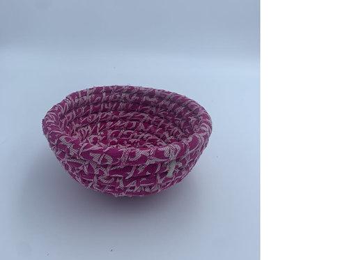 Kaisha Grass Sari Basket - Fair Trade - Pink