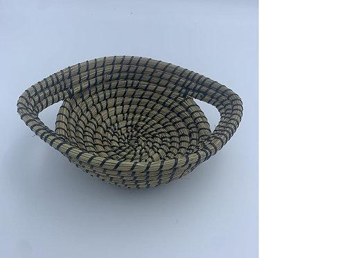 Kaisha Grass & Jute Basket - Fair Trade - Black
