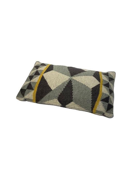 Grafi Cushion - Gray & Yellow Wool