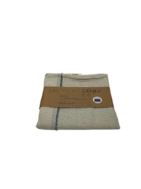 Upcycled Denim Cushion Cover - Cream