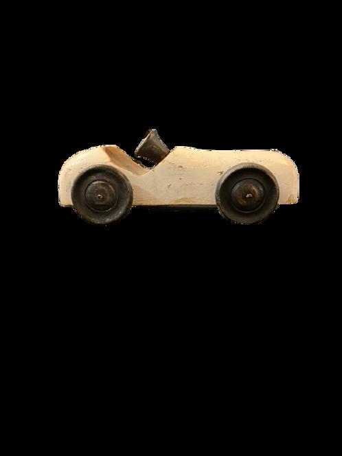 Wooden Antique Automobile - White