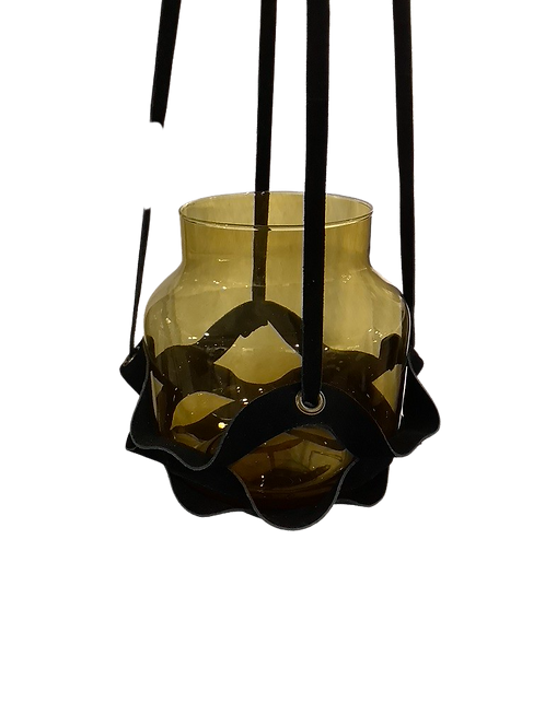 Leather Plant Hanger - Black
