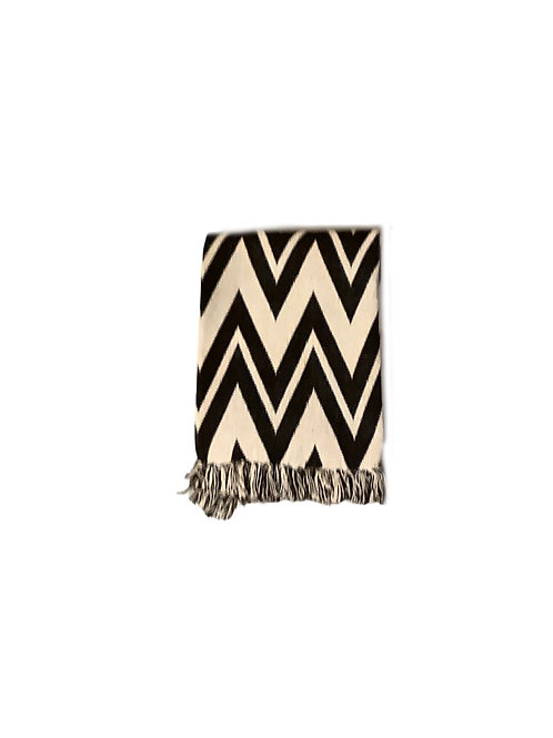 Waves Black and White Throw