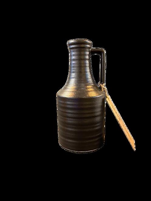 Black Ceramic Jug / Vase