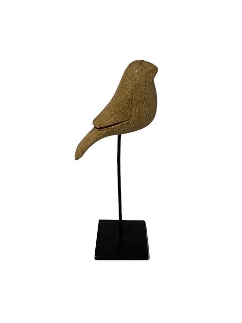Wood Bird on Stand