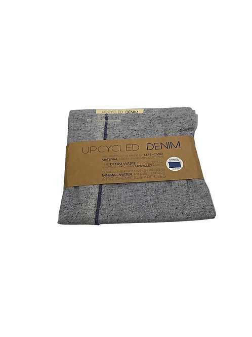 Upcycled Denim Cushion Cover - Blue