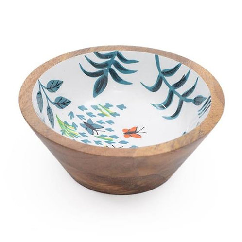 Wooden Bowl (Small) - Butterflies & Leaves
