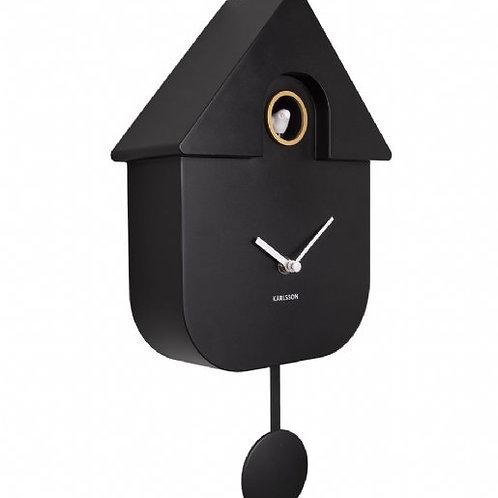Karlsson Modern Cuckoo Clock - Black