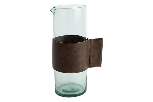 Leather Band Water Jar