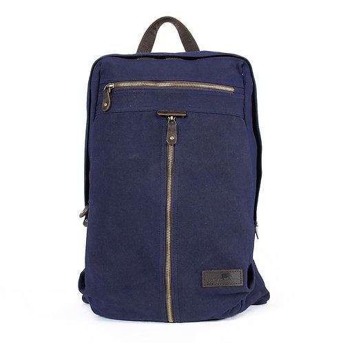Denali Backpack - Waxed Canvas - Marine Blue