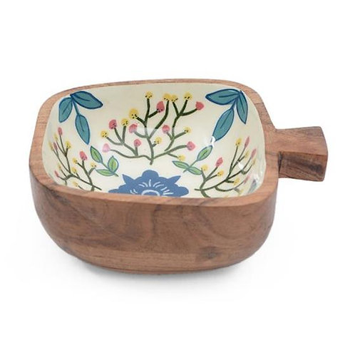 Wooden Bowl (Square) with Handle